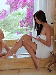 Nubile Films - photos featuring Paula, and Delphine in Torrid Love Affair