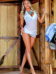Unsurpassed A Lonely Cowgirl.. featuring Samantha Saint | Twistys.com